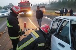حادثه مرگبار در جاده رشت به لاکان/ یک کشته و ۸ زخمی