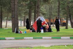 حضور مردم همزمان با غروب ۱۳بدر در پارک شرقی کرمانشاه