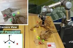 رباتها با امواج رادیویی اشیای مخفی را پیدا می کنند