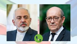 Zarif, Le Drian hold talk on JCPOA joint Commission meeting