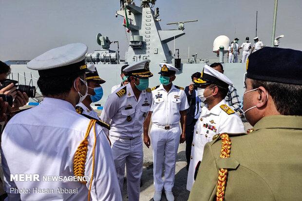 Pakistan's Navy Flotilla docks at Iran's Bandar Abbas