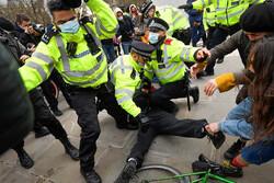 ادامه تظاهرات انگلیسیها علیه لایحه افزایش سرکوبگری پلیس
