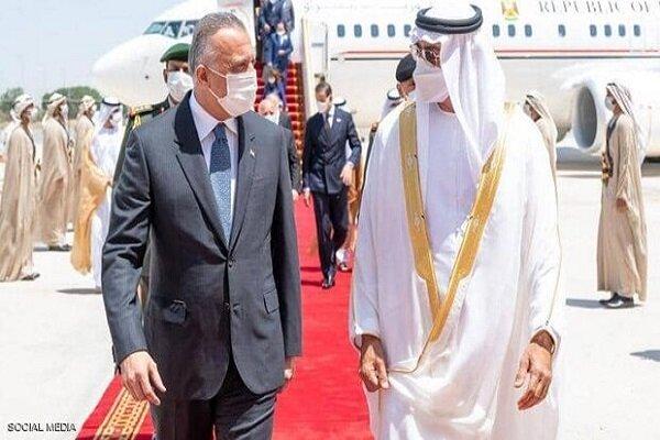 محمد بن زايد يستقبل رئيس وزراء العراق