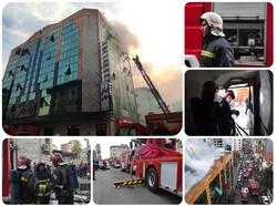 آتش سوزی در مجتمع پزشکان رشت/ ۸ نفر نجات یافتند
