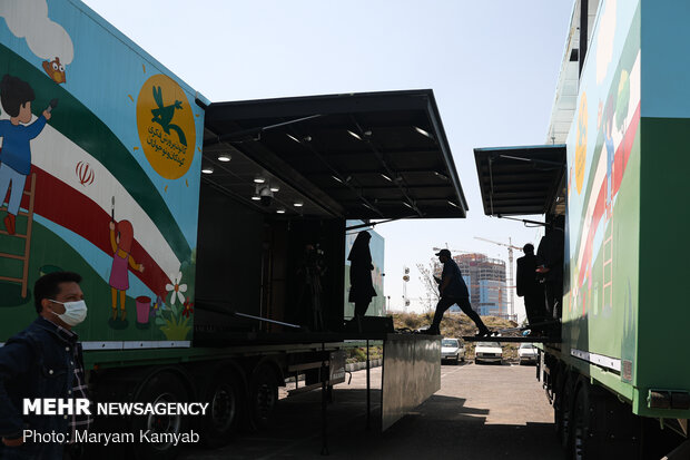 4 mobile theaters inaugurated in Tehran