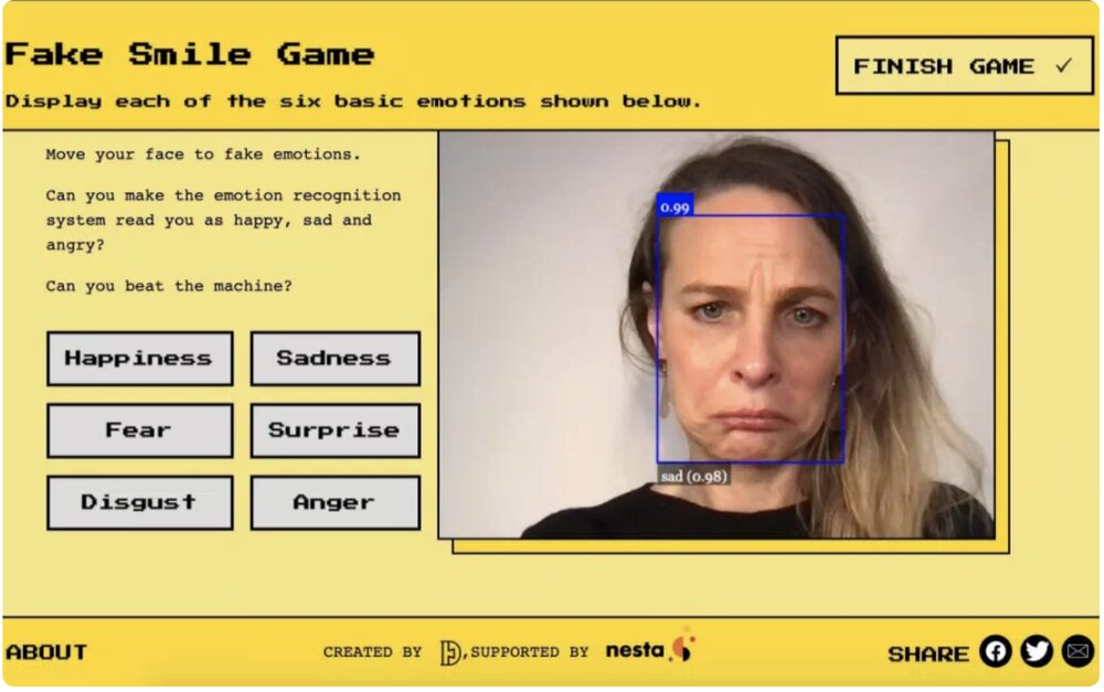 شکلک در بیاورید و به توسعه فناوری شناسایی احساسات کمک کنید!