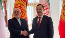 ظريف يجري محادثات مع نظيره القرغيزي حول افغانستان في بيشكك
