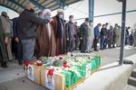 تشییع پیکر ۲ محیطبان در زنجان