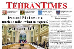 Front pages of Iran's English dailies on April 7