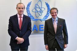 «رافائل گروسی» با رییس هیأت اروپایی نشست وین دیدار کرد