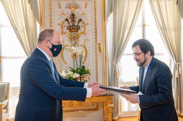 Iran's envoy to Paris submits credentials to Prince of Monaco