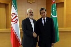 أجواء إيجابية ووجهات متقاربة خلال لقاء ظريف بنظيره التركمانستاني