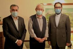 دیدار معاون هنری وزیر ارشاد با خالق سرود ملی ایران