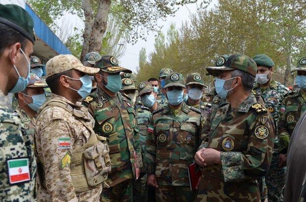 فرمانده کل ارتش از لشکر ۱۶ زرهی نیروی زمینی بازدید کرد