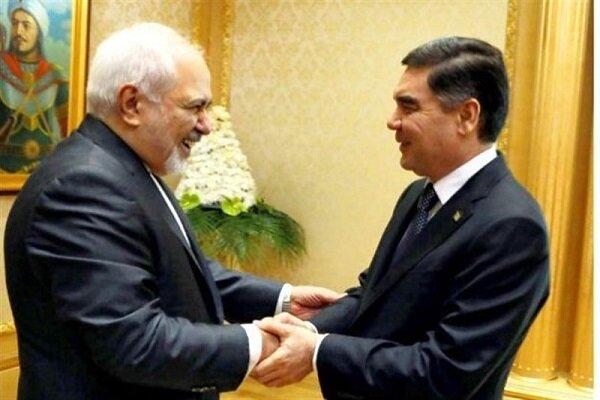 Zarif meets with Turkmen president in Ashgabat