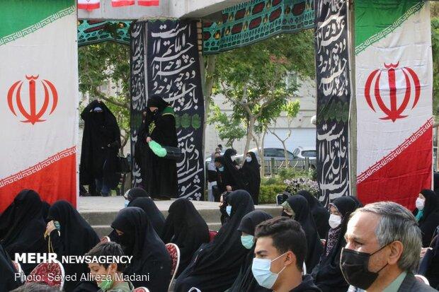 مراسم چهلم تدفین شهدای گمنام محله یافت آباد