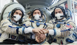 VIDEO: 3 astronauts successfully launched to space station