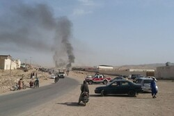 Fire breaks out at a gas storage tank in Afghanistan's Herat