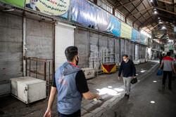 تہران کا بازارکورونا وائرس کی چوتھی لہر کے پیش نظر دو ہفتوں کے لئے بند
