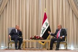 دیدار دبیر کل اتحادیه عرب با رئیس جمهور عراق