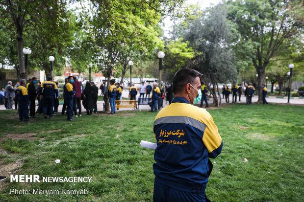 واکسیناسیون پاکبان ها و پرسنل جمع آوری پسماند شهر تهران