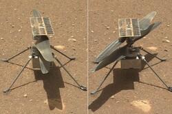 هلی کوپتر مریخی به آپدیت نرم افزاری احتیاج دارد