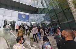 تجمع جمعی از سهامداران مقابل بورس تهران