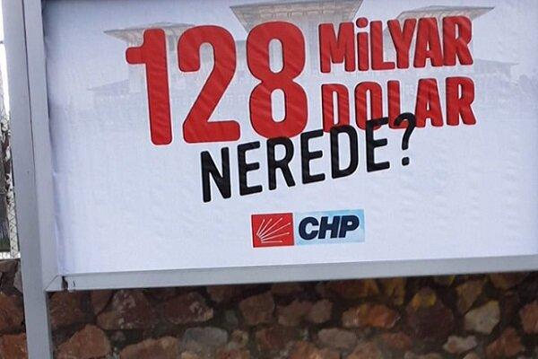 Türkiye'de '128 milyar dolar nerede?' afişlerine soruşturma