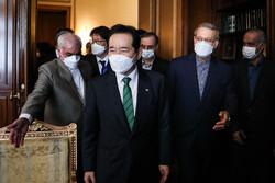 دیدار نخست وزیر کره جنوبی با علی لاریجانی