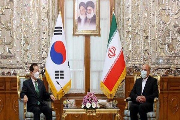 Iranian Parl. speaker, South Korean PM hold meeting in Tehran