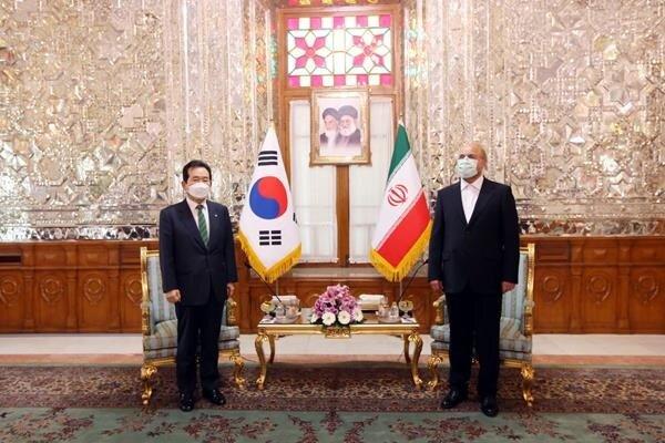 İran Meclis Başkanı, Güney Kore Başbakanı ile görüştü
