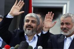 «هنیه» انتخاب «مشعل» به عنوان رئیس «حماس» در خارج را تبریک گفت