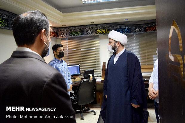 بازدید حجت الاسلام قمی از سایت «تکیه»