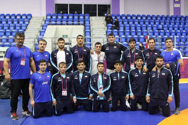 Iran's Greco-Roman team ranks 1st in Asian Athletics