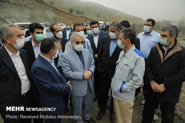 بازدید از منطقه ۲ آزادراه تهران- شمال