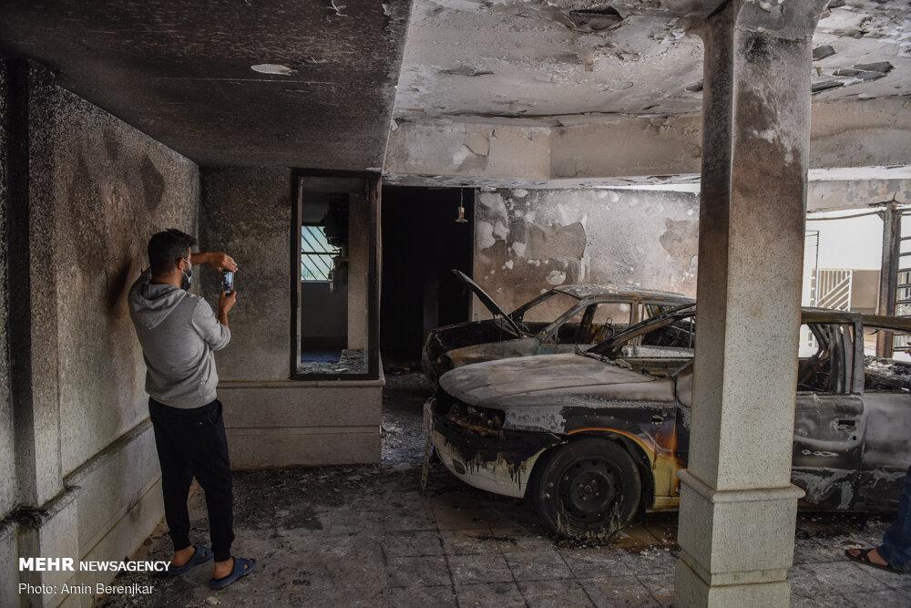 حریق در مجتمع غزال شیراز