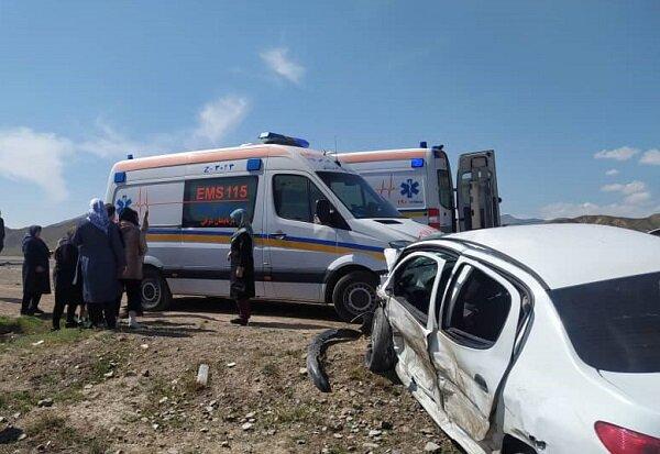 مصدوم شدن ۱۲ نفر در دو فقره تصادف در محورهای آذربایجان شرقی