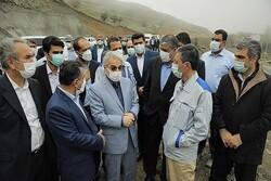 نوبخت، فتاح و اسلامی از قطعه ۲ آزادراه تهران-شمال بازدید کردند