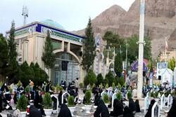 Şehit General Süleymeni'nin mezarı başında Kur'an merasimi