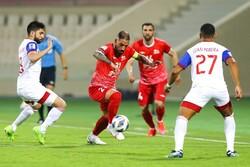 دیدار تیم های فوتبال تراکتور و شارجه امارات