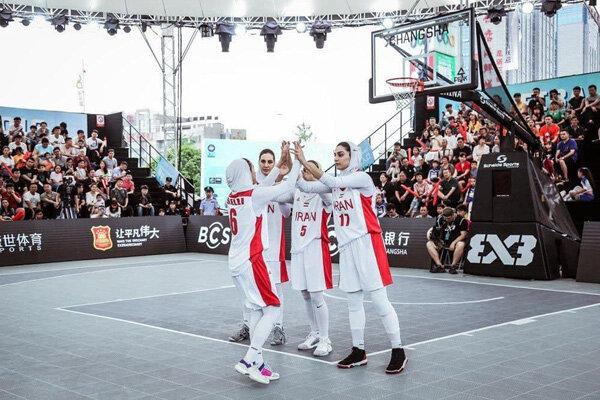 پیگیری اردوی تیم بانوان بسکتبال سه نفره روی «کورت» ویژه