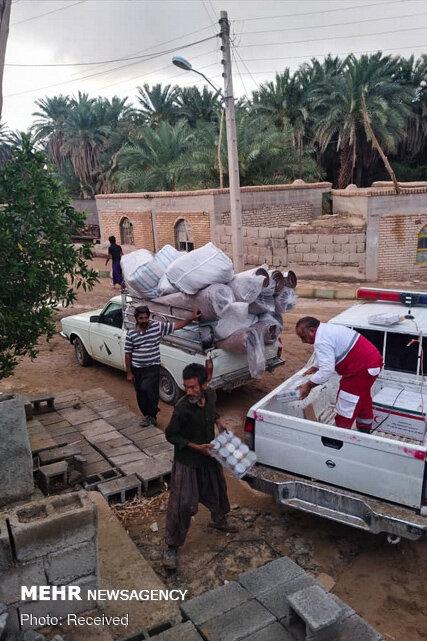 خسارات سیلاب در منطقه کویری شهداد