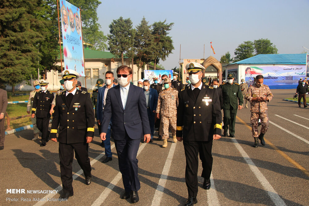 مراسم گرامیداشت روز ارتش در نیروی دریایی رشت