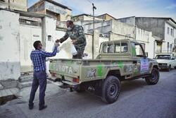 توزیع غذا در محلات کم برخوردار گلستان به مناسبت روز ارتش
