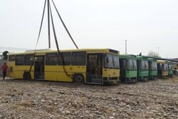 استرداد اتوبوس های ناوگان شهری رشت از سازمان اتوبوسرانی قزوین