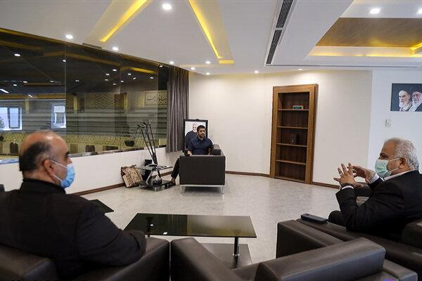 نشست علیرضا دبیر با مدیرکل ورزش و جوانان استان تهران