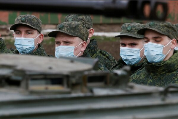 اروپا شمار نظامیان روسیه در مرز اوکراین را ۱۵۰هزار نفر برآورد کرد