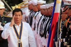 دوترته: از منابع نفتی فیلیپین در دریای چین جنوبی حراست می کنم