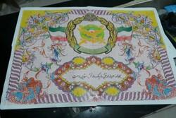 بافت تابلو فرش ارتش جمهوری اسلامی در خوی آغاز شد