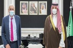 فرستاده نخست وزیر انگلیس با معاون وزیر دفاع سعودی دیدار کرد